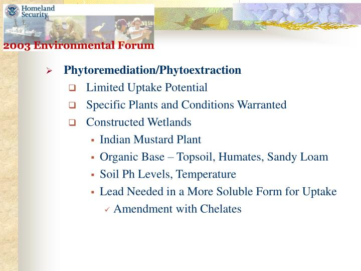 Phytoremediation/Phytoextraction