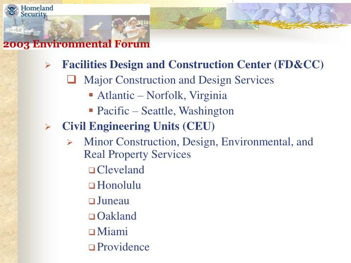 Facilities Design and Construction Center (FD&CC)