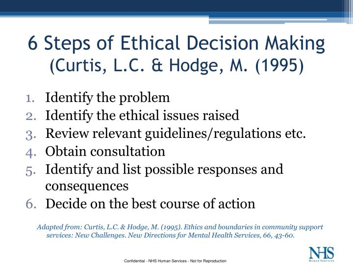 ethical decision making in health care