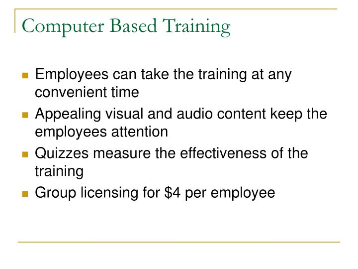 an introduction to the benefits of computer based training Reboot rethinking and restarting software development - free online an introduction to the benefits of computer based training book introduction to function point.