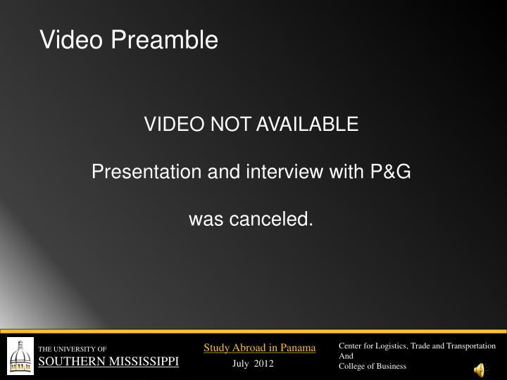 Video Preamble
