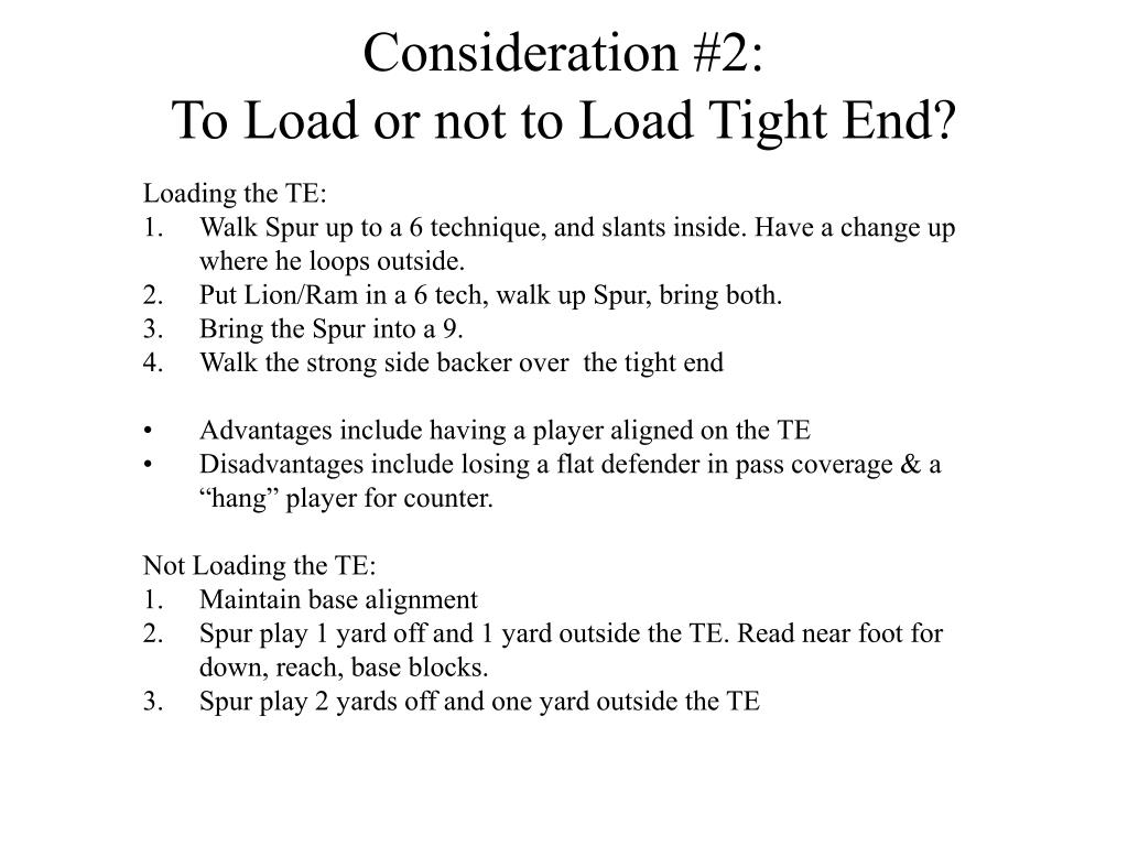PPT - Strategies for Defending 2 Tight-End Formations with