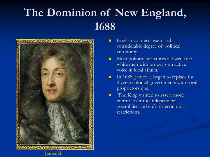 The dominion of new england 1688