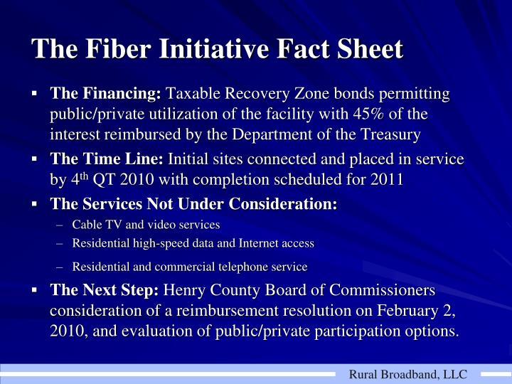 The Fiber Initiative Fact Sheet