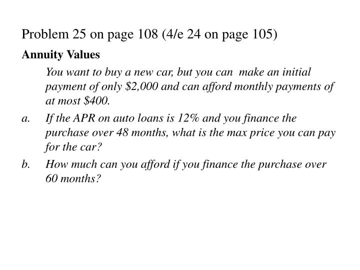 Problem 25 on page 108 (4/e 24 on page 105)