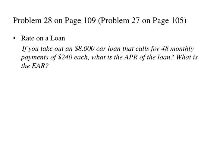 Problem 28 on Page 109 (Problem 27 on Page 105)
