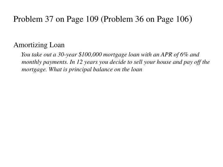 Problem 37 on Page 109 (Problem 36 on Page 106