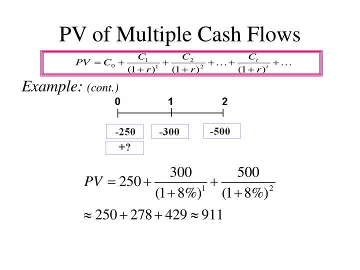 PV of Multiple Cash Flows