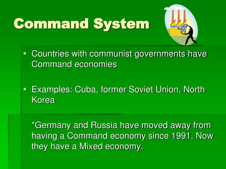 command system vs market system Start studying economics market system vs command system learn vocabulary, terms, and more with flashcards, games, and other study tools.