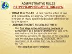 administrative rules http pb dpi wi gov pb rulespg
