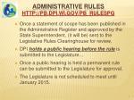 administrative rules http pb dpi wi gov pb rulespg1