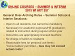 online courses summer interim 2013 wi act 2576