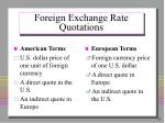 foreign exchange rate quotations