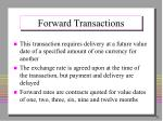 forward transactions