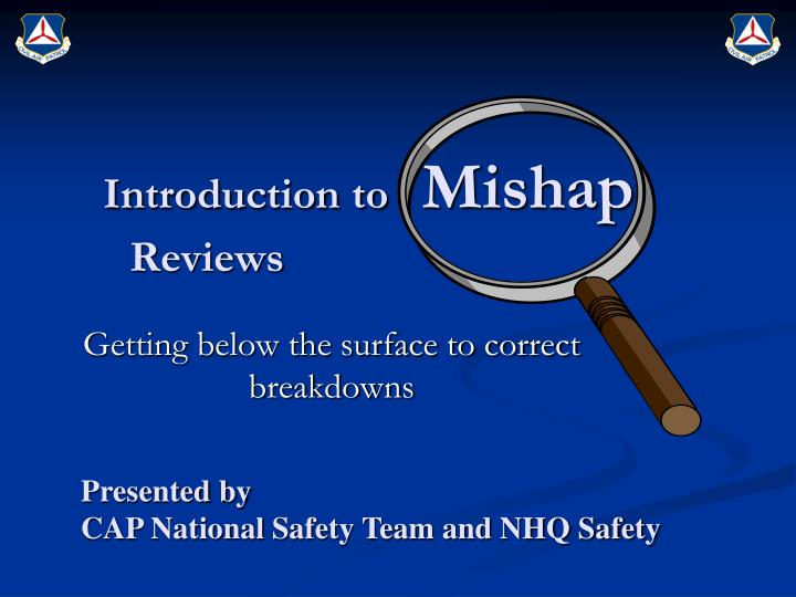 introduction to mishap reviews n.