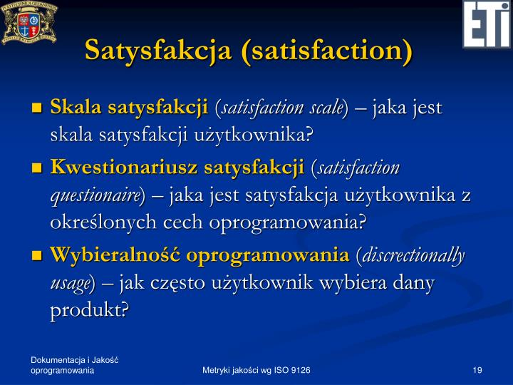 Satysfakcja (satisfaction)