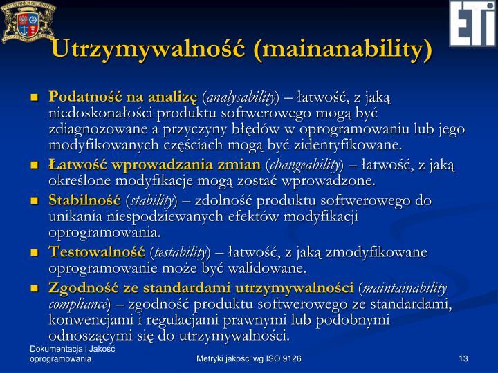 Utrzymywalność (mainanability)
