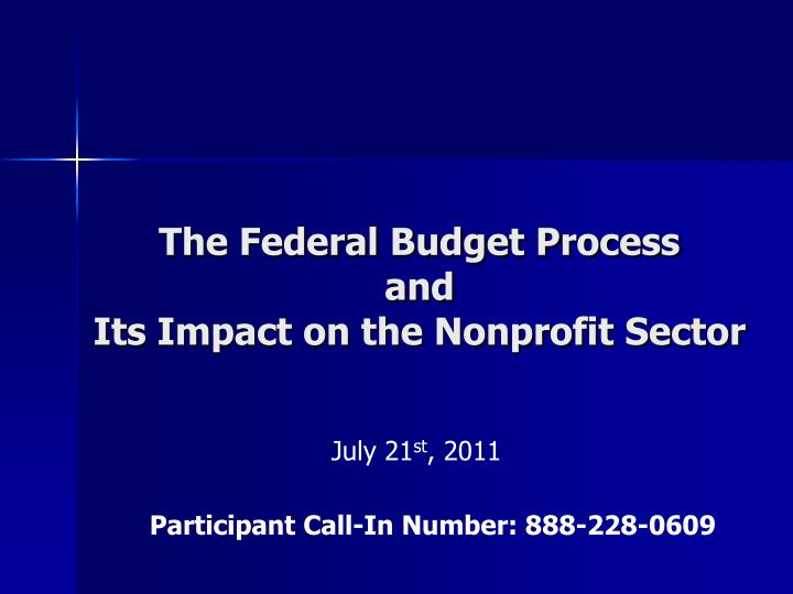 the federal budget process The most important part of a balanced budget amendment--especially one including tax limitation--is the process of ratification, in which people in the 50 states and the country as a whole debate the issues involved and re-establish an understanding of what it is the federal government is supposed to do and not do and how congress is to keep.