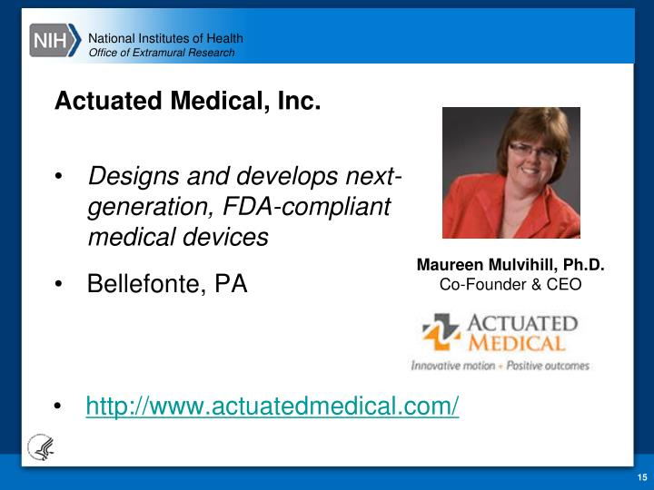Actuated Medical,