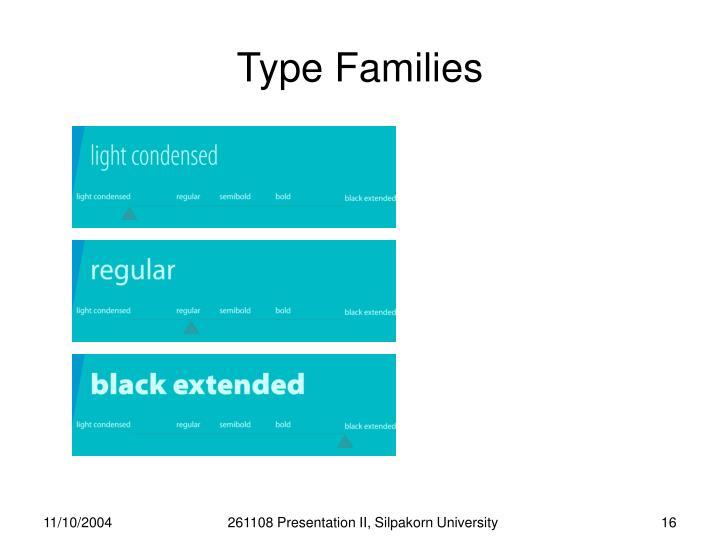 Type Families