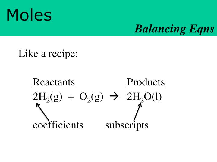 Balancing Eqns