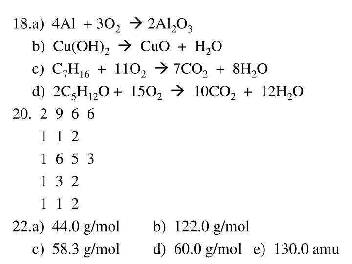 a)  4Al  + 3O