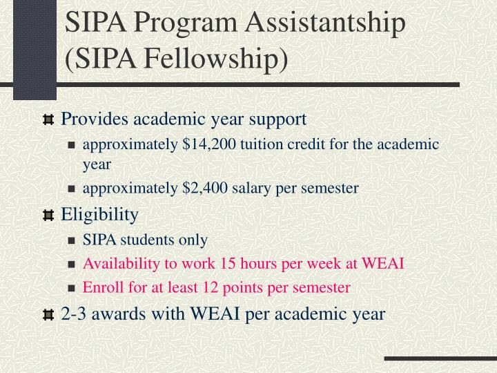 SIPA Program Assistantship