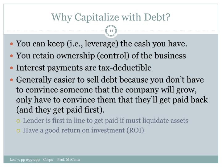 Why Capitalize with Debt?