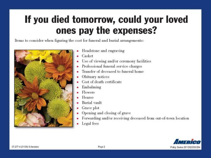 Client presentation final expense powerpoint