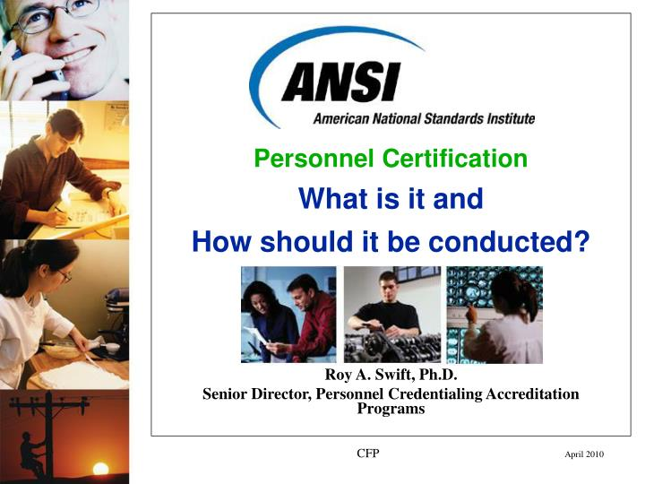Personnel Certification