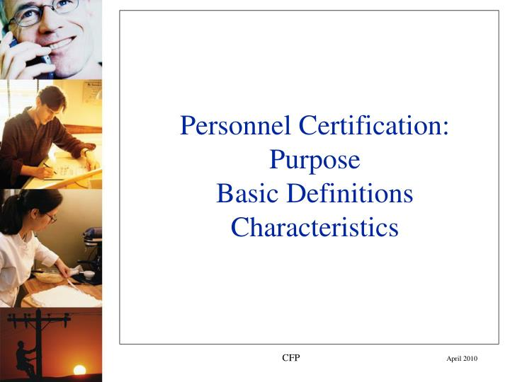 Personnel Certification: