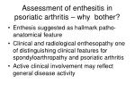 assessment of enthesitis in psoriatic arthritis why bother