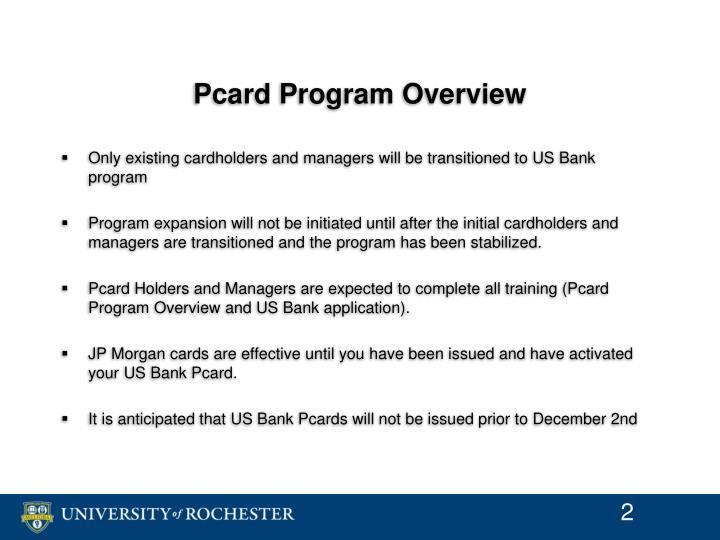 Pcard program overview