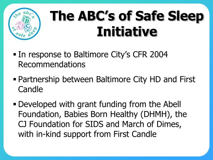 The ABC's of Safe Sleep Initiative