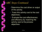 abc steps continued