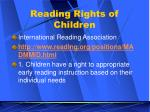 reading rights of children