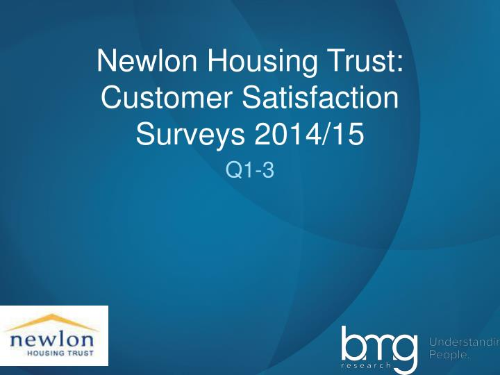 Newlon housing trust customer satisfaction surveys 2014 15