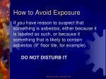 how to avoid exposure2