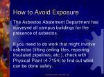 how to avoid exposure4