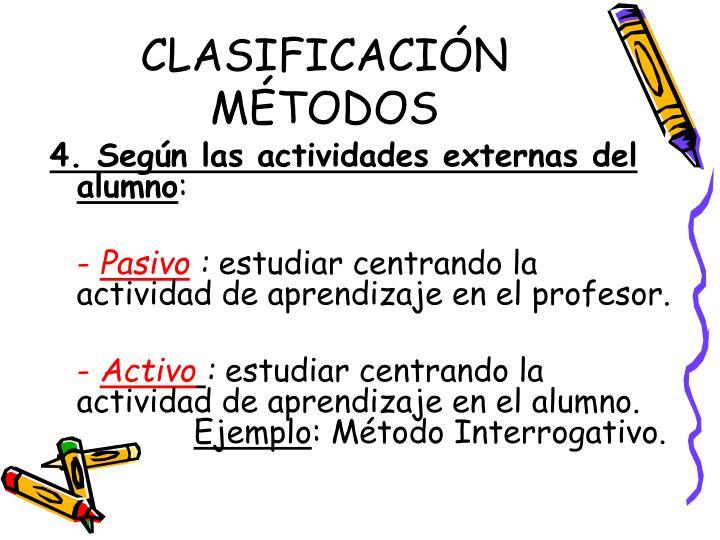 CLASIFICACIÓN MÉTODOS