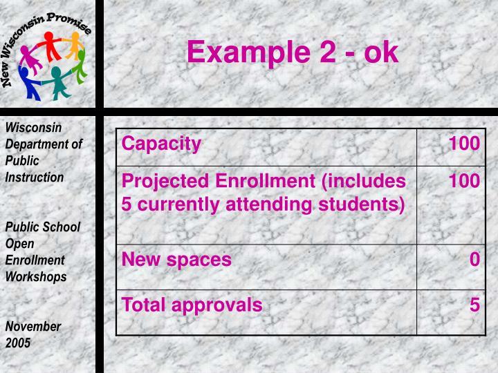 Example 2 - ok