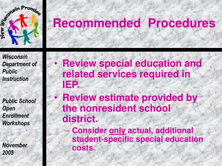 Recommended  Procedures