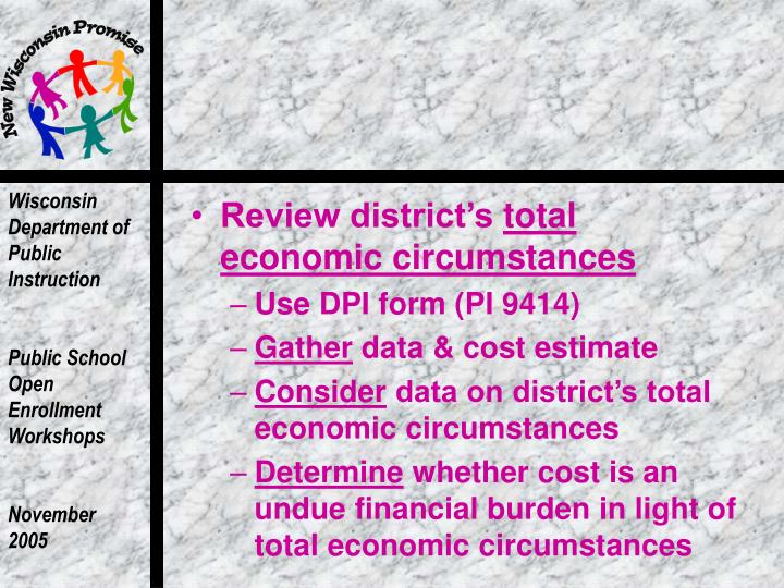 Review district's