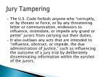 jury tampering