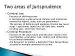 two areas of jurisprudence