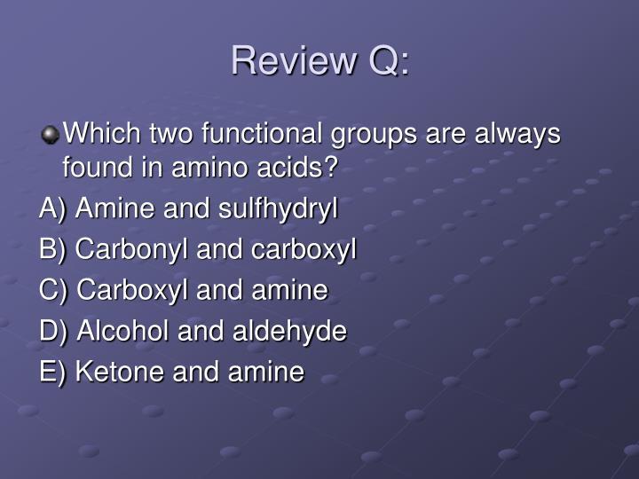 Review Q: