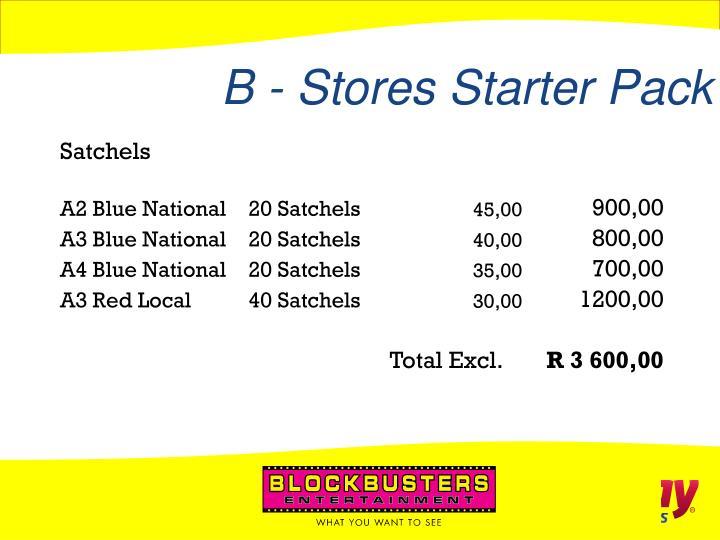 B - Stores Starter Pack