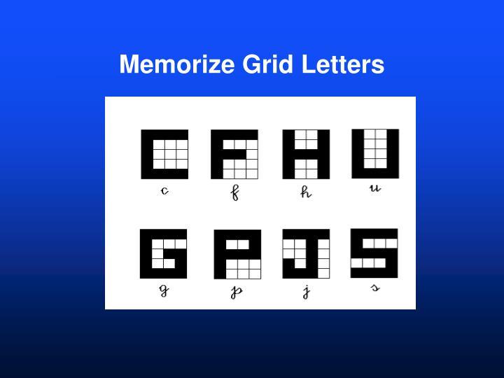 Memorize Grid Letters