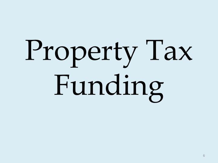 Property Tax Funding