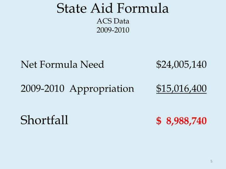State Aid Formula